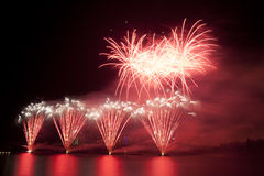 Firework over lake Royalty Free Stock Images