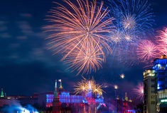Firework over Moscow Stock Photos