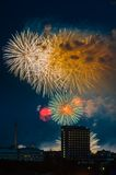 Firework over Moscow. Russia Royalty Free Stock Photos