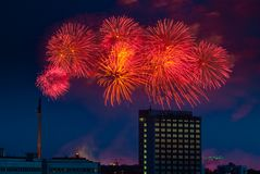Firework over Moscow. Russia Royalty Free Stock Images