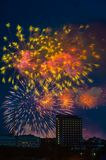 Firework over Moscow. Russia Stock Photography