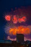 Firework over Moscow. Russia Stock Image
