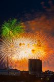 Firework over Moscow. Russia Royalty Free Stock Photo