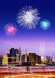 Firework over New York Stock Photos