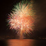 Firework over the water Royalty Free Stock Photo