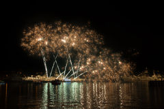 Firework over the water Royalty Free Stock Image