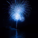 Firework over the water Stock Images
