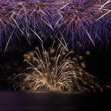 Firework over the water Royalty Free Stock Images