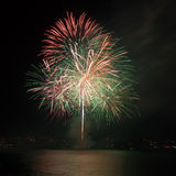 Firework over the water Royalty Free Stock Photography