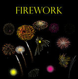 Firework pack isolated. New year fireworks isolated background Stock Photography