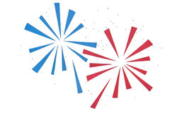 Firework paper cut on white background Stock Photography