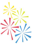 Firework paper cut on white background Royalty Free Stock Photo