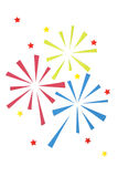 Firework paper cut on white background Stock Images