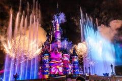 Firework at Paris Princess's Castle Stock Images