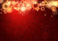 Firework. Party background with colorful firework Stock Photos