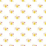Firework pattern, cartoon style. Firework pattern. Cartoon illustration of firework vector pattern for web Royalty Free Stock Image
