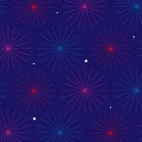 Firework pattern design. Firework pattern seamless vector design Royalty Free Stock Photo