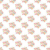 Firework pattern seamless Stock Photos