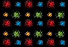 Firework pattern wallpaper design illustrated for artwork. Use or for backgrounds vector illustration