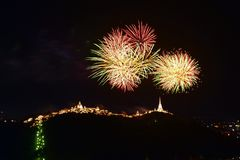 Firework at Phra Nakhon Khiri festival royalty free stock photo