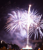 Firework at Plaza de Espana. Barcelona Royalty Free Stock Photography