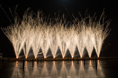Firework In Portugal. A festival of firework in lisbon/portugal beautifull colors and lines Royalty Free Stock Images