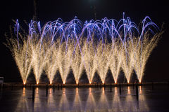 Firework In Portugal. A festival of firework in lisbon/portugal beautifull colors and lines Stock Photography
