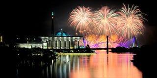 Firework at Putra Jaya Royalty Free Stock Photo