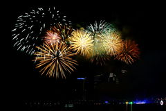 Firework at Putrajaya Royalty Free Stock Photography