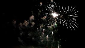 Firework pyrotechnic show stock video