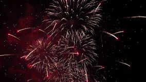 Firework pyrotechnic show stock video footage