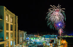 Firework Queenstown Winter Festival Royalty Free Stock Photo