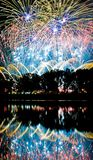 Firework reflections Royalty Free Stock Images