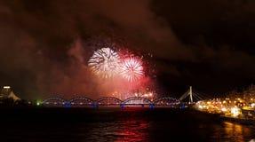 Firework, night scen Royalty Free Stock Image