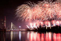 Firework in Riga Royalty Free Stock Images