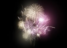 Firework Rocket Display Stock Image
