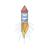 Firework rocket icon. Over white background. colorful design. vector illustration Royalty Free Stock Images