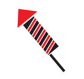 Firework rocket icon vector Stock Image