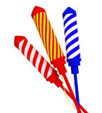Firework rockets. Isolated on a white background Royalty Free Stock Image
