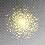 Firework salute magic light effect stars burst isolated on trans. Parent background, vector illustration eps 10 Royalty Free Stock Photos