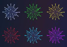 Firework samples vector color. Firework samples vector different color Royalty Free Stock Image