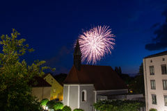 Firework in Schwandorf Royalty Free Stock Image