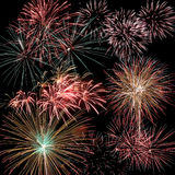 Firework set Royalty Free Stock Photo