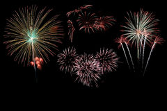 Firework set Stock Photography
