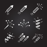 Firework set  illustration. firework icons set. Eps10 Royalty Free Stock Photography
