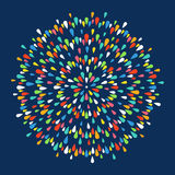 Firework shapes colorful festive vector icon. Royalty Free Stock Images