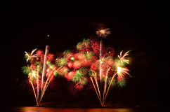 Firework, show ,celebrate, the king of birthday Stock Images