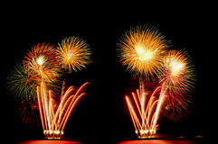 Firework, show ,celebrate, the king of birthday Royalty Free Stock Images