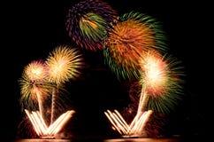 Firework, show ,celebrate, the king of birthday Stock Photos