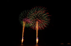 Firework, show ,celebrate, the king of birthday Royalty Free Stock Photos